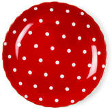 One Kings Lane Set of 8 Dotted Dessert Plates - Red/White