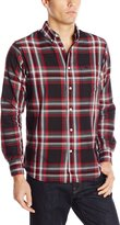Dockers Long Sleeve No Wrinkle Signature Button Down Collar Spade Pocket Red Plaid Shirt