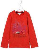 Paul Smith city print long sleeve T-shirt