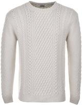 Edwin United Knit Jumper Cream