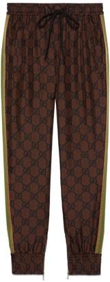 Gucci GG Supreme print silk pant