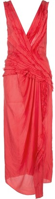 Jason Wu Collection Draped Midi Dress