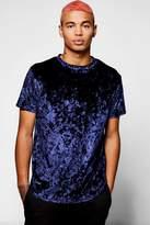 boohoo Crushed Velour T-Shirt