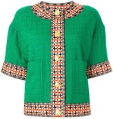 Gucci Contrast Trim Short-Sleeve Jacket
