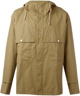 Stella McCartney short hooded trench coat - men - Cotton/Linen/Flax/Viscose - 44