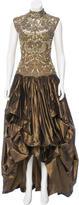 Oscar de la Renta Lace Appliqué Gown