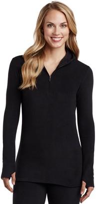 Cuddl Duds Women's Fleece Wear Half Zip Hoodie