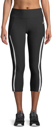 Gottex X By Studio Side-Striped Activewear Capri Leggings