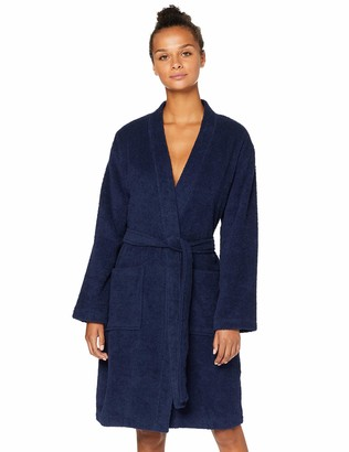 Iris & Lilly Amazon Brand Women's Short Terry Towelling Dressing Gown