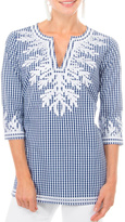 Gretchen Scott Gingham Reef Tunic Top