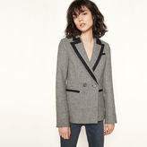 Maje Wool blazer with contrasting trim