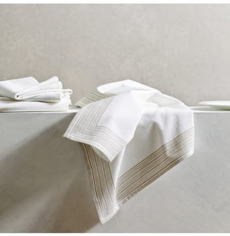 The White Company Set of 4 Print Stripe Cotton Napkins