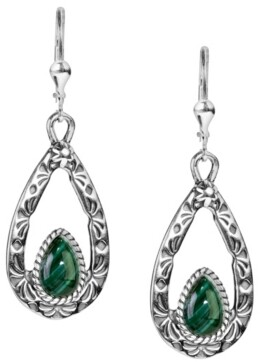 American West by Carolyn Pollack Sterling Silver Teardrops in Malachite, Orange Spiny Oyster, Purple Spiny Oyster and Tiger's Eye