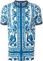 Dolce & Gabbana damask short sleeve T-shirt