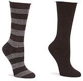 Hue Tweed Striped & Solid Boot Socks 2-Pack