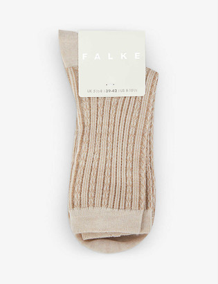 Falke Patterned wool-blend socks