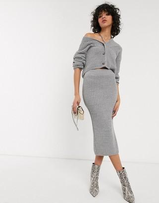 Asos DESIGN co-ord knitted midi skirt