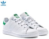 adidas White and Green Stan Smith Trainers