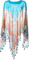 Etro printed silk cape - women - Silk - One Size