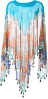 Etro printed silk cape