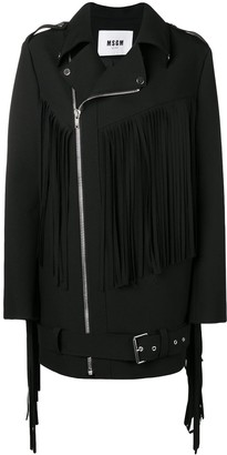 MSGM Fringed Coat