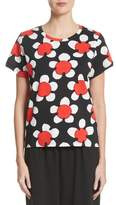 Marc Jacobs Oversize Floral Print Tee