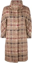 Herno plaid button down coat - women - Cotton/Polyamide/Polyester/Wool - 44
