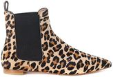 Twin-Set Beatles Ankleboots In Spotted Cow Hair