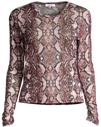 Parker Gianna Snakeskin Top