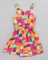 Splendid Littles Ferris Wheel Painted-Patchwork Pinafore Dress, Sizes 2T-4T