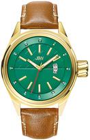 JBW Goldtone Rook Leather-Strap Watch - Men