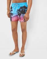 Ted Baker Palm tree sunset swim shorts