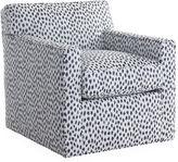 Joe Ruggiero Collection Kelton Swivel Chair, Navy Spot Sunbrella