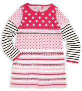 Design History Toddler's & Little Girl's Polka Dot Knit Dress