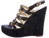 Dolce & Gabbana Denim Wedge Sandals