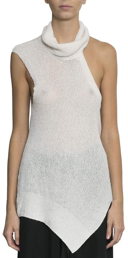 Ann Demeulemeester Asymmetric Cotton Top