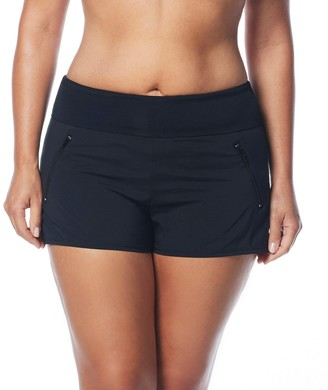 BEACH HOUSE WOMAN Women's Plus Size Paloma Board Short with Waist Band and Zip Pockets