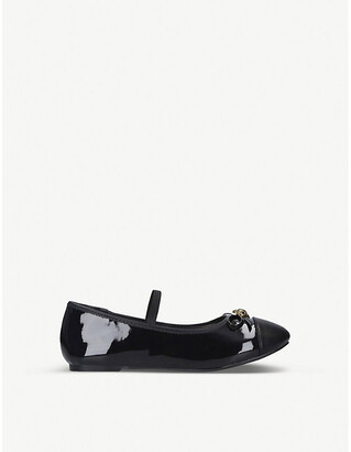 Kurt Geiger Mini Esme patent ballerina shoes 7-10 years