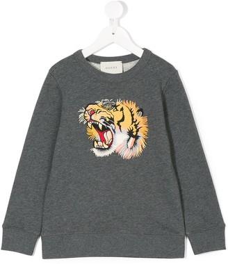 Gucci Kids tiger-appliqué sweatshirt