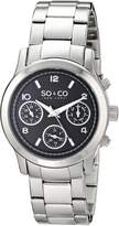 SO & CO New York Women's 5012.1 Madison Stainless Steel Watch with Link Bracelet