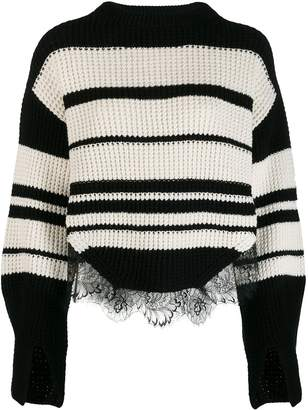 Self-Portrait striped knit jumper