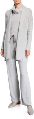 Natori Ulla Speckled Open-Front Cardigan