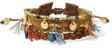 Chan Luu Gold-plated, Leather And Multi-stone Bracelet - Brown