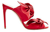 Casadei Tango Double Bow Strap Leather Sandals