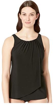 Miraclesuit Network Mariella Tankini Top (Black) Women's Swimwear