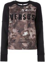 Versus camouflage logo print sweatshirt