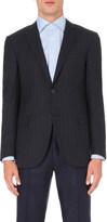 Corneliani Slim-fit pinstriped wool-blend blazer