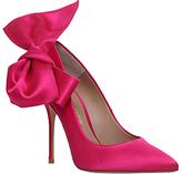 Kurt Geiger Evie High Heel Court Shoes, Hot Pink Satin
