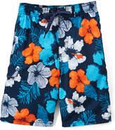 Kanu Surf Navy & Orange Hangout Floral Boardshorts - Toddler & Boys