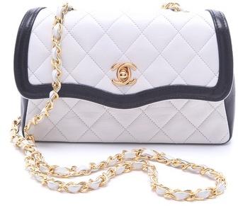 WGACA Vintage Chanel Two Tone Flap Bag